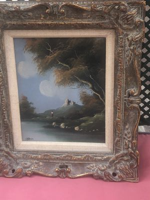 Vintage signed oil on canvas by Mariahi, Excellent Condition 15 x 13 for Sale in South Bend, IN