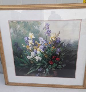 Floral painting with frames (3) for Sale in Fresno, CA