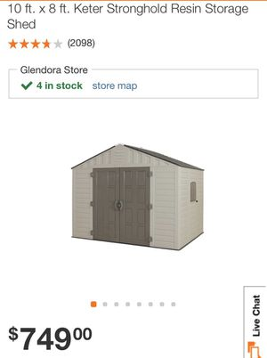 10x8 keter shed for Sale in San Dimas, CA