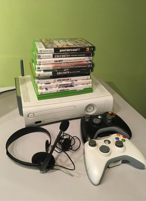 Xbox 360 with 9 games for Sale in Gaithersburg, MD
