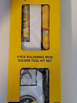 Pinsun 5 Piece Soldering Iron Solder Tool Kit Set for Sale in Weymouth,  MA