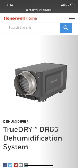 Honeywell Dehumidifier for Sale in San Diego, CA