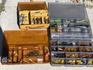 Fishing lures and trays. Lot for Sale in Zephyrhills, FL
