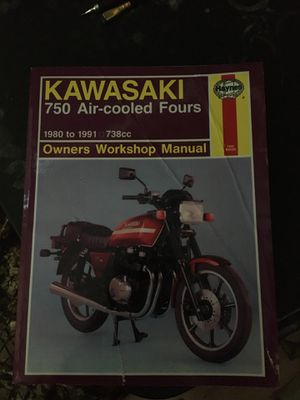 Kawasaki Haynes manual 1980 - 1991 750 air cooled fours for Sale in Guadalupe, AZ