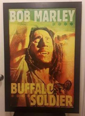 $20.00 Bob Marley Buffalo Soldier Framed Poster/Picture for Sale in Spokane, WA