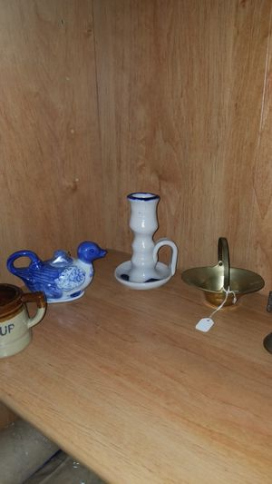 5 piece lot ceramic and brass items for Sale in Titusville, FL