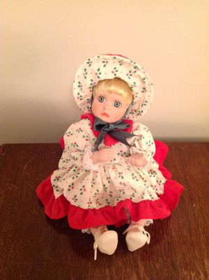 Musical Christmas porcelain doll for Sale in Tremont, IL