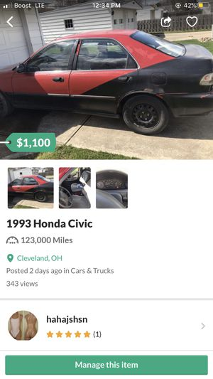 Cheap car Honda Civic for Sale in Cleveland, OH