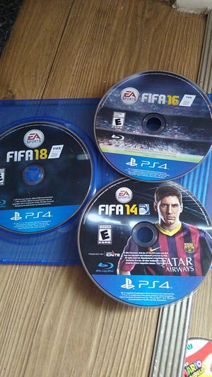 Ps4 fifa 14 16 18 great condition for Sale in Houston, TX