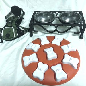 Dog Accessories - Harness, Dish Set, Toy for Sale in Roseville, CA