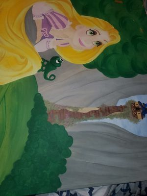 Rapunzel canvas painting ,disney for Sale in Pasadena, TX