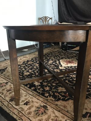 Wooden circle table bar retro vintage round breakfast bar for Sale in Lakeside, CA
