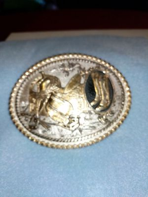 Boot & Saddle Western belt buckle by Montana silversmiths $ for Sale in Appleton, WI