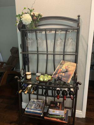 Bakers rack / wine glass wine holder for Sale in Henderson, NV