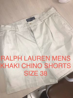 Mens Khaki Ralph Lauren Polo Chino shorts size 38 asking $25 FIRM ! (originally $65) for Sale in Hialeah, FL