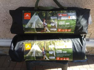 7 Person TeePee Camping Tent $45 ea. (Price is Firm) for Sale in Torrance, CA
