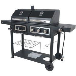 2in1 Gas And Charcoal Grill Dual Black Steel Cover BBQ Kabob for Sale in Burbank, CA