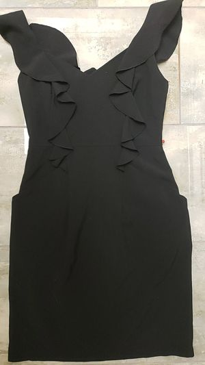 City studio size 7 little black dress ruffles Gothic punk party Halloween costume drag for Sale in Scottsdale, AZ