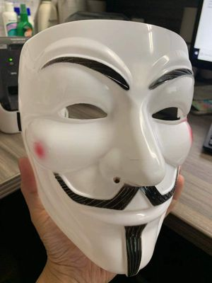 NEW V for Vandetta mask halloween guy fawkes anonymous cosplay fancy dress costume party for Sale in Covina, CA