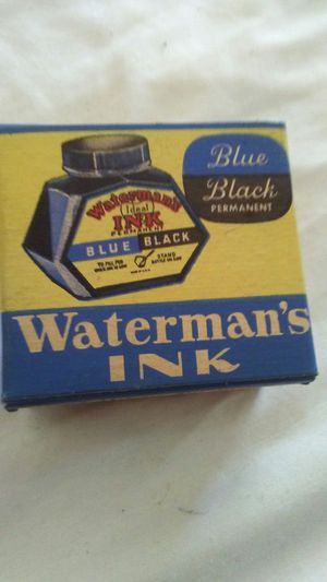 1- Vintage Waterman's Ink bottle! Blue/Black! Fountain pen ink! Never used! for Sale in Pen Argyl, PA