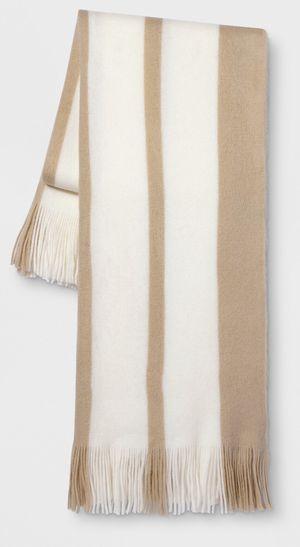 Stripe Throw Blanket Neutral for Sale in Los Angeles, CA
