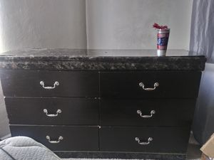 Ashey furnature large 5 drawer dresser with mirror for Sale in St. Louis, MO