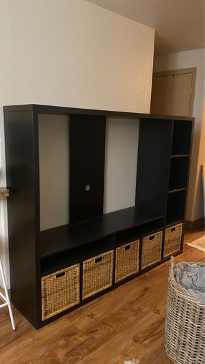 IKEA LAPPLAND TV STORAGE UNIT WITH BASKETS for Sale in Bend, OR