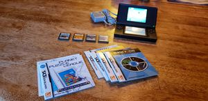 Nintendo DS lite with 5 games for Sale in Orland Park, IL