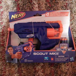 Nerf N-Strike Elite Scout MKII Gun with 4 Dart Rotating Drum for Sale in Hawthorne, CA