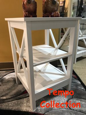NEW, X Side End Table, White, SKU# 6605 for Sale in Fountain Valley, CA