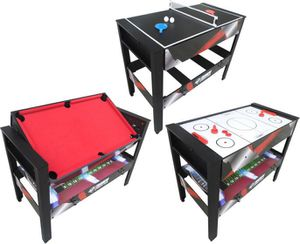 Triumph 4-in-1 Rotating Swivel Multigame Table ? Air Hockey, Billiards, Table Tennis, and Launch Football for Sale in Las Vegas, NV