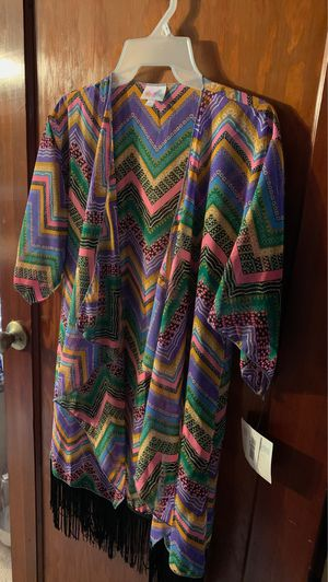 Lula Roe light weight cover up or jacket new with tag for Sale in Perryopolis, PA