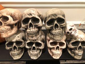 Styrofoam skulls Halloween decor for Sale in Lathrop, CA