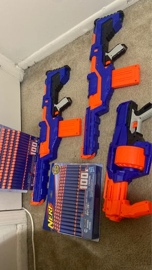 Nerf Gun Set ( Comes with Bullets ) 200x for Sale in Landover, MD