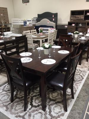 Stylish 6 PC Dining Set, Espresso for Sale in Santa Fe Springs, CA
