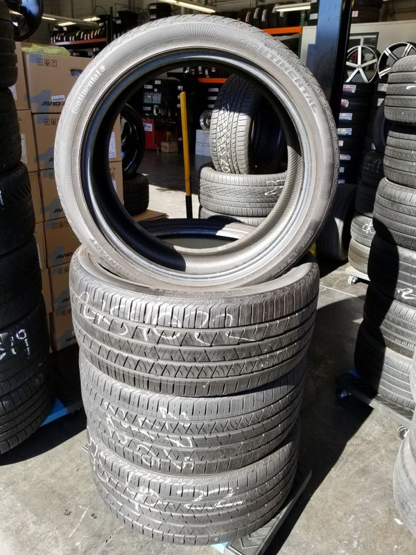 Tires For Cheap >> 4 Used 275 40r22 Continental Cross Contact Tires In Perfect