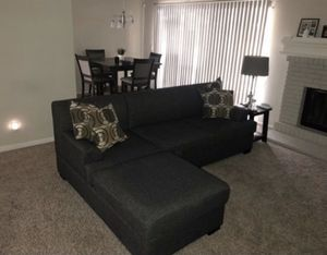 Charcoal Grey (small/medium) sectional couch for Sale in Rancho Cucamonga, CA