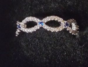 Sterling Silver CZ and Sapphire Ring for Sale in Fort Worth, TX