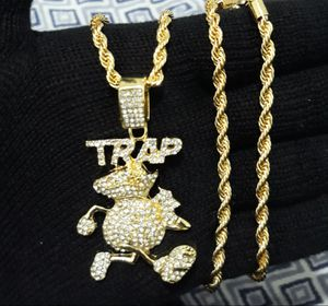 14k gold finish icedout TRAP NECKLACE for Sale in Los Angeles, CA