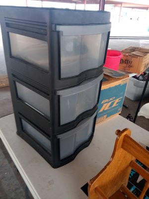 Three drawer plastic organizer for Sale in Arlington, TX