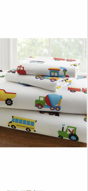 Wildkin Kids 100% Cotton Toddler Sheet Set-(trucks,planes,trains) for Sale in Menifee, CA