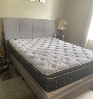 Queen bed frame with mattress and box spring for Sale in Melbourne Village, FL