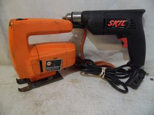 "Skil 6215 3/8"" Drill & Black & Decker Jig Saw Variable Speed 7500 USA Made for Sale in Clifton Heights, PA"