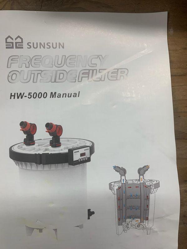 SUNSUN HW-5000 LCD Display 4-Stage External Aquarium Canister Filter