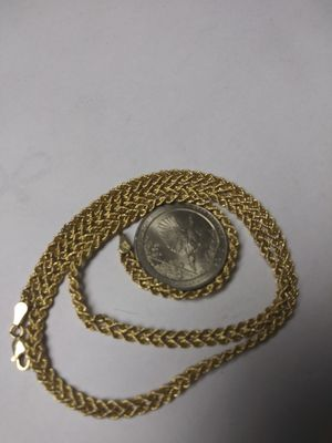 10k gold rope chain necklace for Sale in Brockton, MA