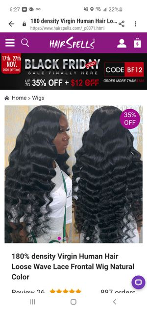 100% Cambodian human hair lace front 22in for Sale in Brooklyn, NY