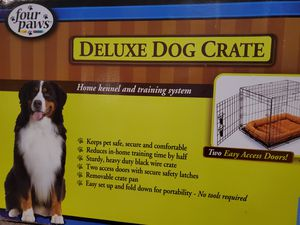 Four 🐾 Paws 🐾 Deluxe Dog 🐕 crate holds up to 90 pound dog 🐕. Perfect for traveling 👌 or the keep your dog confined. for Sale in East Yaphank, NY