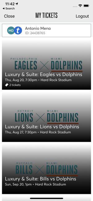 Club 72 seats Miami Dolphins for Sale in Miami, FL