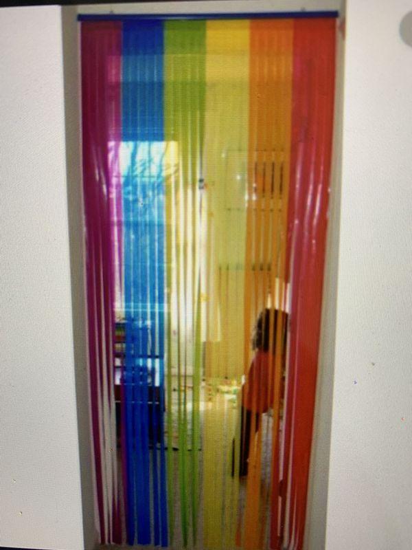 IKEA Rainbow curtain