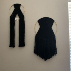 Black macramé wall hanging for Sale in Rocklin, CA